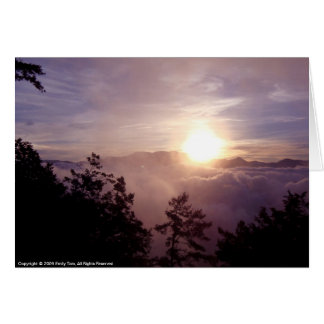 Alishan Sunrise Card