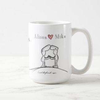 Alison heart Mike Coffee Mug