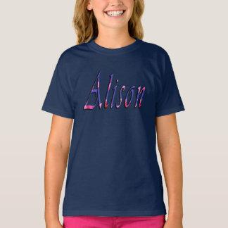 Alison, Name, Logo, Girls Blue Tshirt