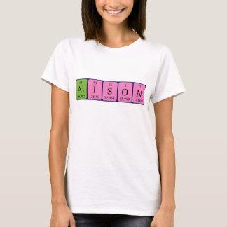 Alison periodic table name shirt