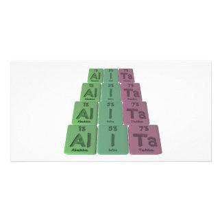 Alita as Aluminium Iodine Tantalum Photo Card