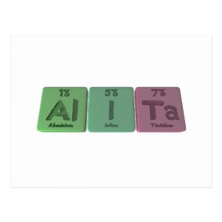 Alita as Aluminium Iodine Tantalum Postcard