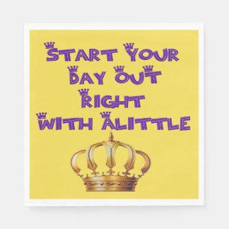 Alittle Crown Disposable Napkins
