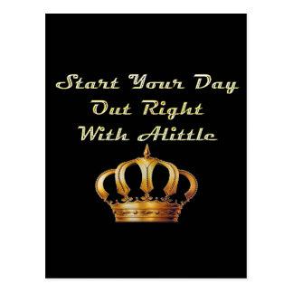 Alittle Crown Postcard