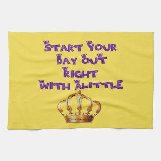 Alittle Crown Tea Towel