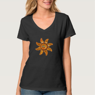 Alive, aware, awake radiant sun emoji-word art T-Shirt