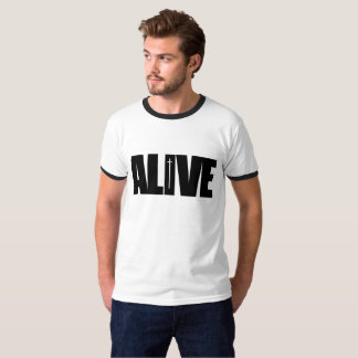 Alive - Men's short sleeve t shirt black contrast