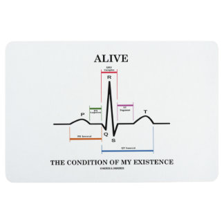 Alive The Condition Of My Existence ECG Heartbeat Floor Mat