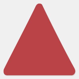 Alizarin Crimson Triangle Sticker