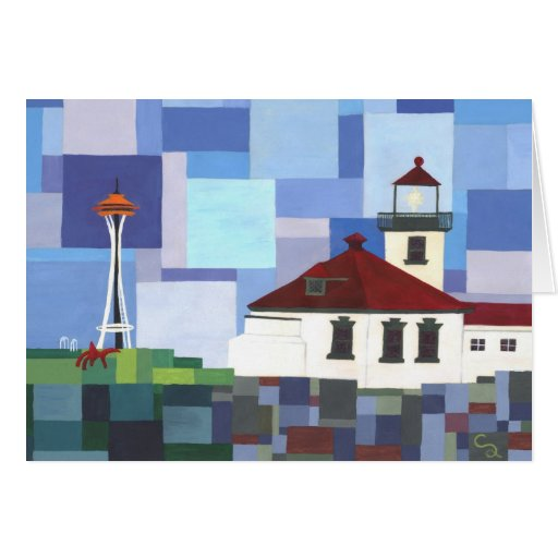 Alki Point Lighthouse Greeting Cards