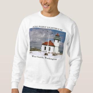 Alki Point Lighthouse, West Seattle, Washington Sweatshirt