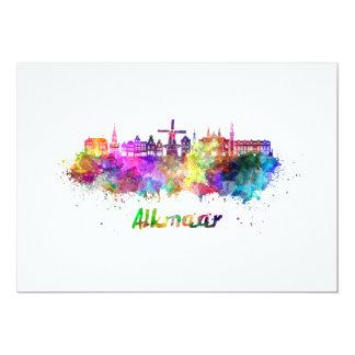Alkmaar skyline in watercolor card