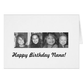 all4project, Happy Birthday Nana! Card