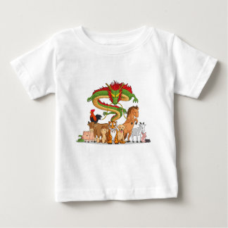 All 12 Chinese Zodiac Animals Together Baby T-Shirt