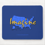 All 50 States Blue Mousepad