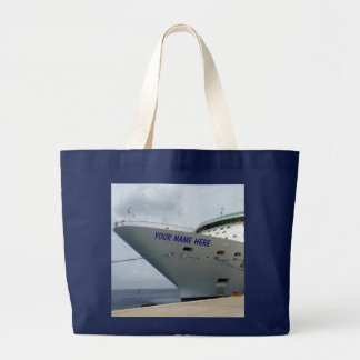 All Aboard Personalized Ship Bow Jumbo Tote Bag