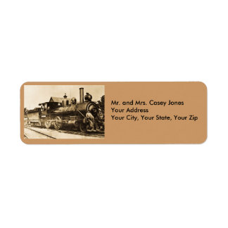 All Aboard the 2586 - Vintage Return Address Label