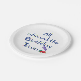All Aboard the Birthday Train Paper Plate