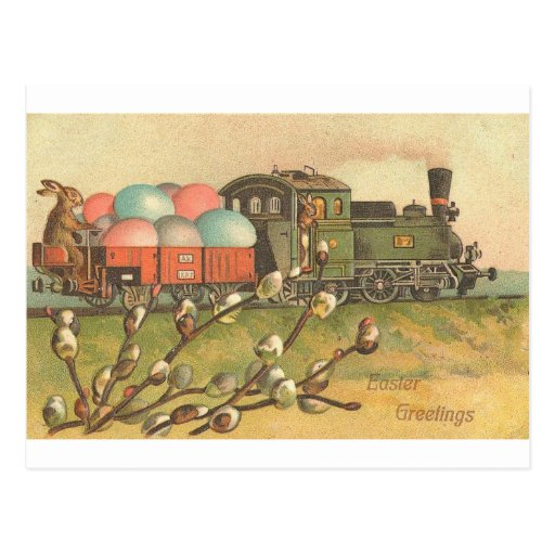 All Aboard ! The Easter Train ! Postcards