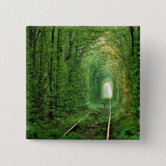 All aboard the Forest Express 15 Cm Square Badge