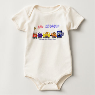 All Aboard The Fun Train! Baby Bodysuit
