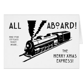 All Aboard The Merry Xmas Express Card