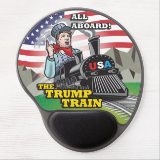 ALL ABOARD THE TRUMP TRAIN!!! USA Nationalism MAGA Gel Mouse Pad