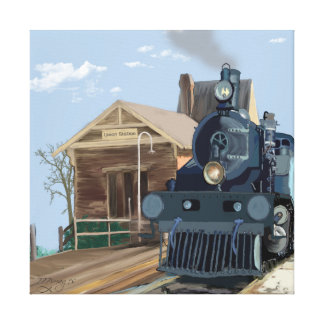 All Aboard Wrapped Canvas