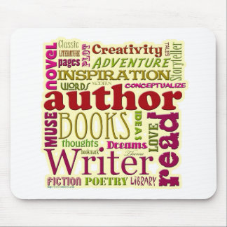 All About Authors red Mouse Pad