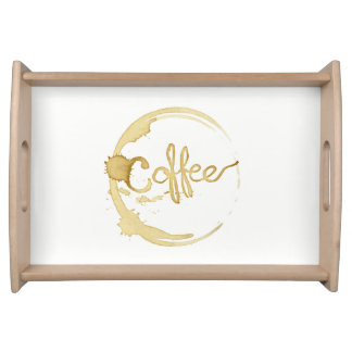 All about coffee, serving tray