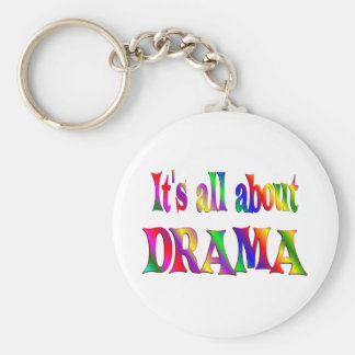 All About Drama Basic Round Button Key Ring