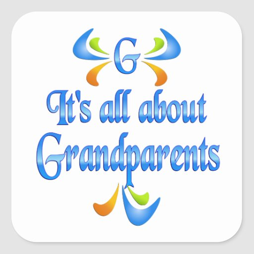 All About Grandparents Sticker