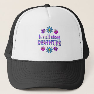 ALL ABOUT GRATITUDE TRUCKER HAT