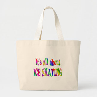 All About Ice Skating Large Tote Bag