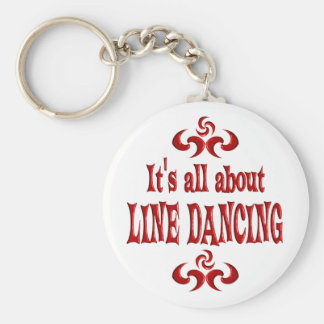 ALL ABOUT LINE DANCING BASIC ROUND BUTTON KEY RING