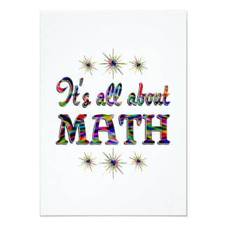 """ALL ABOUT MATH 5"""" X 7"""" INVITATION CARD"""