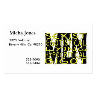 All About Men Pack Of Standard Business Cards