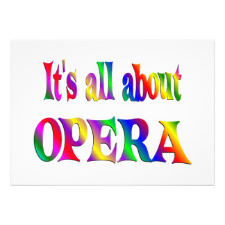 All About Opera Personalized Announcement