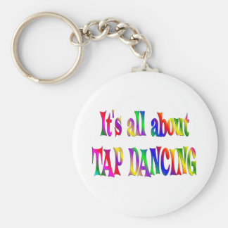 All About Tap Dancing Basic Round Button Key Ring