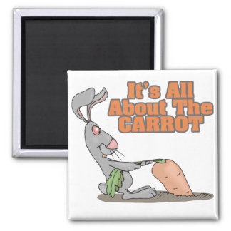 all about the carrot funny bunny rabbit cartoon magnet