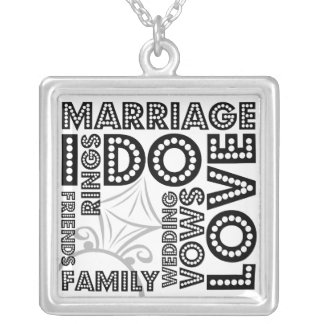 All About Weddings Sterling Silver Necklace