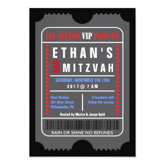 ALL ACCESS VIP PASS Bar Mitzvah Invitation