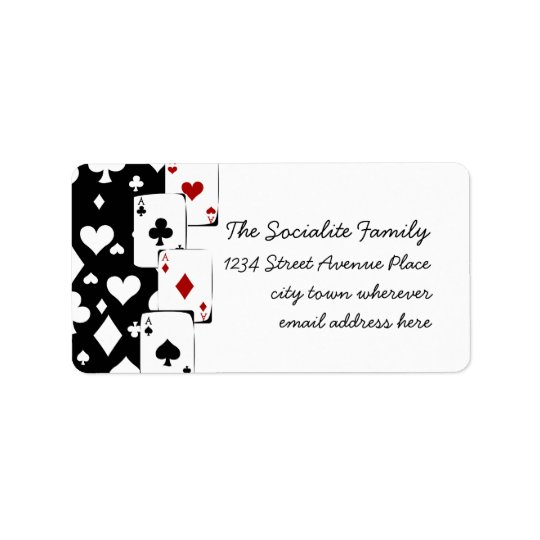 All Aces Address Label