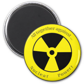 All against ... Nuclear power! 6 Cm Round Magnet