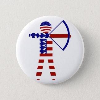 All-American Archer / Archery 6 Cm Round Badge