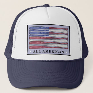 All American baseball bats flag patriotic hat