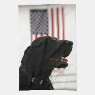 All-American Black Labrador Retriever Tea Towel