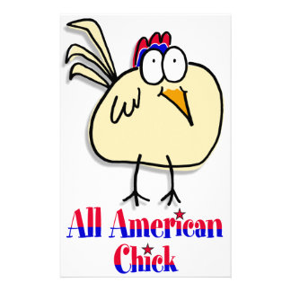 All American Chick Custom Stationery