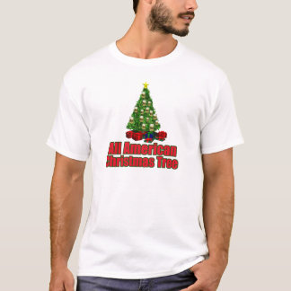 All American christmas tree with beer T-Shirt