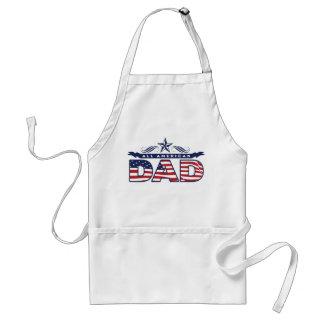 All American dad USA patriotic men's apron smock